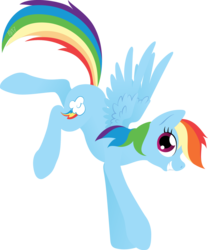 Size: 1024x1230 | Tagged: safe, artist:gracewolf, rainbow dash, female, landing, lineless, simple background, smiling, solo, transparent background