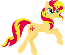 Size: 2274x1935 | Tagged: safe, artist:gracewolf, sunset shimmer, pony, female, lineless, simple background, solo, transparent background