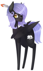 Size: 1224x1989 | Tagged: artist:bonniebatman, female, mare, oc, oc:cloudy night, oc only, one eye closed, pegasus, pony, safe, simple background, solo, transparent background, wink
