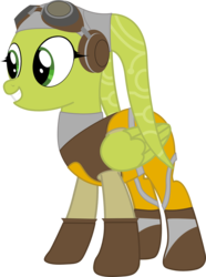 Size: 1183x1586   Tagged: safe, artist:sonofaskywalker, pegasus, pony, twi'lek, goggles, hera syndulla, no tail, pilot, ponified, simple background, solo, star wars, star wars rebels, transparent background