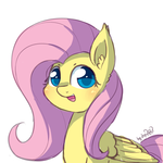 Size: 1920x1920 | Tagged: artist:dsp2003, blushing, colored pupils, cute, ear fluff, female, fluttershy, looking at you, open mouth, pegasus, pony, safe, shyabetes, signature, simple background, sketch, smiling, solo, white background