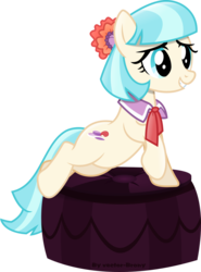 Size: 1024x1387 | Tagged: safe, artist:vector-brony, coco pommel, earth pony, pony, made in manehattan, cocobetes, cute, female, mare, simple background, solo, transparent background, vector