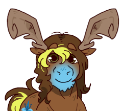 Size: 237x217 | Tagged: safe, artist:lizzy-pixel, oc, oc only, oc:tartaurus, moose, barely pony related, solo