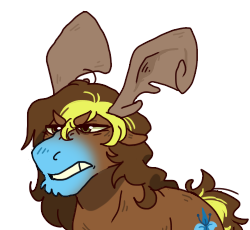 Size: 250x230 | Tagged: safe, artist:lizzy-pixel, oc, oc only, oc:tartaurus, moose, barely pony related, solo