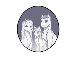 Size: 4000x3000 | Tagged: safe, artist:theonlywolf100, oc, oc only, earth pony, pony, bust, family, farmer, monochrome, original art, original character do not steal, portrait