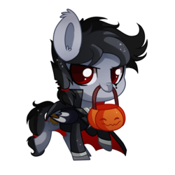Size: 1000x1000 | Tagged: safe, artist:hikariviny, oc, oc only, oc:jack o'lantern, bat pony, pony, chibi, male, simple background, solo, stallion, transparent background