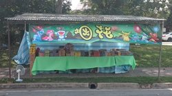 Size: 1964x1096 | Tagged: safe, pinkie pie, trixie, bulbasaur, charizard, pikachu, pony, squirtle, unicorn, chinese, doraemon, female, fireworks, irl, malaysia, mare, photo, pokémon