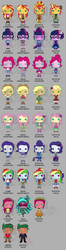 Size: 1280x4851 | Tagged: safe, artist:zephyrosphoenix, applejack, fluttershy, gaea everfree, gloriosa daisy, pinkie pie, rainbow dash, rarity, sci-twi, sunset shimmer, timber spruce, twilight sparkle, equestria girls, legend of everfree, absurd resolution, boots, crystal gala, crystal guardian, funko pop!, high heel boots, humane five, humane seven, humane six, magical geodes, mane six, ponied up, shoes
