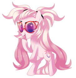 Size: 4113x4210 | Tagged: safe, artist:sorasku, oc, oc only, oc:sunset, earth pony, pony, absurd resolution, female, glasses, mare, simple background, solo, transparent background