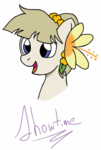 Size: 720x1066 | Tagged: safe, artist:showtimeandcoal, oc, oc only, oc:mission belle, bust, con, con mascot, convention, mascot, pacific ponycon, pacific ponycon 2017, portrait, ppc, simple background, solo, white background