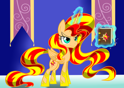 Size: 6025x4286 | Tagged: safe, artist:lovehtf421, sunset shimmer, alicorn, pony, absurd resolution, alicornified, race swap, shimmercorn, solo