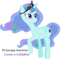 Size: 1024x994 | Tagged: safe, artist:supercambolicious, oc, oc only, oc:princess aurora, alicorn, pony, alicorn oc, crown, cutie mark, jewel, jewelry, magical lesbian spawn, moon, offspring, parent:princess celestia, parent:princess luna, parents:princest, product of incest, regalia, simple background, solo, sun, white background, yin-yang