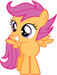 Size: 4453x5885 | Tagged: absurd res, artist:ratchethun, cute, cutealoo, female, filly, pegasus, pony, safe, scootaloo, solo, spread wings, vector