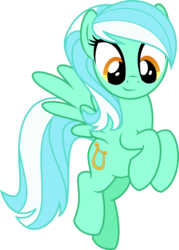 Size: 4000x5579 | Tagged: safe, artist:orin331, lyra heartstrings, pegasus, pony, dancerverse, absurd resolution, alternate hairstyle, alternate universe, cutie mark, female, flying, flyra, looking at you, mare, race swap, simple background, smiling, solo, spread wings, transparent background, vector