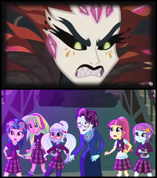 Size: 1306x1476   Tagged: safe, artist:themexicanpunisher, gaea everfree, indigo zap, lemon zest, principal abacus cinch, sour sweet, sugarcoat, sunny flare, equestria girls, friendship games, legend of everfree, shadow five