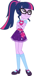 Size: 2160x4774   Tagged: safe, artist:imperfectxiii, sci-twi, twilight sparkle, equestria girls, absurd resolution, adorkable, bowtie, casual, clothes, cute, dork, female, glasses, high heels, legs, looking up, mary janes, point commission, ponytail, sci-twi outfits, shoes, simple background, skirt, smiling, socks, solo, transparent background, twiabetes, vector