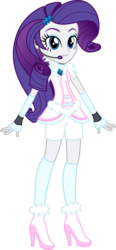Size: 2351x5076 | Tagged: safe, artist:osipush, part of a set, rarity, equestria girls, absurd resolution, boots, clothes, commission, cute, female, headset, high heel boots, high heels, legs, microphone, raribetes, shoes, simple background, smiling, solo, transparent background, vector, winter outfit