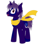 Size: 6658x6658 | Tagged: safe, artist:glacierfrostclaw, oc, oc only, oc:aether lionheart, bat pony, hybrid, pony, unicorn, absurd resolution, clothes, scarf, simple background, solo, spots, transparent background