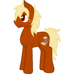 Size: 642x642 | Tagged: artist:glacierfrostclaw, earth pony, male, oc, oc:apple cider, oc only, pony, safe, simple background, solo, stallion, transparent background