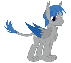 Size: 1600x1400 | Tagged: safe, artist:mrumbrellacorps, oc, oc only, oc:corpsly, sphinx, 2017 community collab, derpibooru community collaboration, chest fluff, cutie mark, leonine tail, male, old design, paws, purple eyes, simple background, solo, sphinx oc, stallion, transparent background, vector, wings