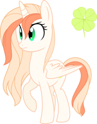 Size: 5000x6349   Tagged: safe, artist:aureai, oc, oc only, oc:tyche, alicorn, pony, :t, absurd resolution, alicorn oc, angry, clover, female, four leaf clover, mare, raised hoof, simple background, solo, transparent background, vector