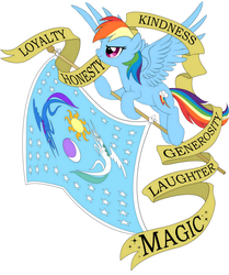 Size: 1034x1238 | Tagged: safe, artist:lostinthetrees, edit, princess celestia, princess luna, rainbow dash, banner, cropped, equestrian flag, female, flag, moon, simple background, solo, sun, tattoo concept, white background