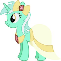 Size: 1263x1265 | Tagged: safe, artist:digimonlover101, lyra heartstrings, pony, unicorn, make new friends but keep discord, clothes, dress, female, gala dress, mare, simple background, smiling, solo, transparent background, vector