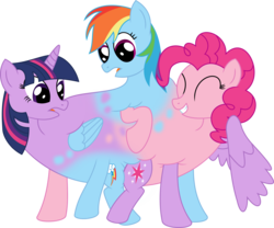 Size: 2000x1663 | Tagged: alicorn, artist:mlpconjoinment, body horror, bunnicula, conjoined, conjoined triplets, fusion, hilarious in hindsight, hydra pony, it all started when i was born, lol, multiple heads, pinkie pie, polyamory, rainbow dash, safe, simple background, spongebob squarepants, squidbob tentaclepants, three-headed pony, three heads, together forever, transparent background, triple header, twidashpie, twilight sparkle, twilight sparkle (alicorn), wat, we have become one, what has magic done, wtf