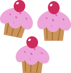 Size: 4096x4220 | Tagged: safe, artist:parclytaxel, cup cake, .svg available, absurd resolution, cutie mark, cutie mark only, no pony, simple background, transparent background, vector