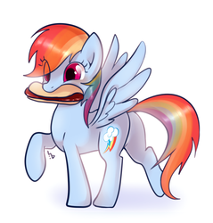 Size: 840x880   Tagged: safe, artist:haden-2375, rainbow dash, pegasus, pony, backwards cutie mark, cute, dashabetes, eye clipping through hair, female, food, hot dog, mare, meat, mouth hold, ponies eating meat, sausage, simple background, solo, white background