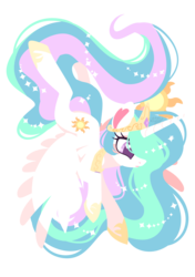 Size: 1200x1703 | Tagged: safe, artist:snow angel, princess celestia, alicorn, pony, beautiful, crown, cutie mark, ethereal mane, ethereal tail, female, flapping, flowing mane, flowing tail, hoof shoes, jewelry, mare, multicolored mane, multicolored tail, praise the sun, purple eyes, regalia, royalty, simple background, solo, sparkles, spread wings, sun, tiara, transparent background
