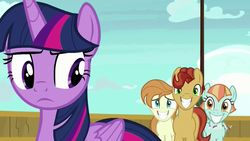 Size: 1280x720   Tagged: safe, screencap, agua fresca, lily peel, twilight sparkle, alicorn, pony, once upon a zeppelin, paddleball (character), twilight sparkle (alicorn)