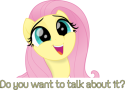 Size: 4176x3010   Tagged: safe, artist:sollace, fluttershy, pegasus, pony, my little pony: the movie, .svg available, bust, caption, cute, daaaaaaaaaaaw, female, happy, hnnng, looking at you, mare, movie accurate, open mouth, show accurate, shyabetes, simple background, smiling, solo, text, this will end in tears, transparent background, vector, weapons-grade cute