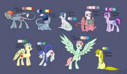 Size: 2615x1525 | Tagged: artist:vigilantefreak, dracony, hybrid, interspecies offspring, magical lesbian spawn, oc, oc only, offspring, parent:applejack, parent:discord, parent:fluttershy, parent:gilda, parent:lightning dust, parent:pinkie pie, parent:rainbow dash, parent:rarity, parents:discodash, parents:flutterdust (pairing), parents:gildapie, parent:soarin', parent:spike, parents:soarinjack, parents:sparity, parents:sunsetsparkle, parent:sunset shimmer, parent:twilight sparkle, rearing, safe