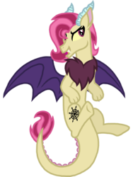 Size: 1024x1360 | Tagged: artist:saukapie, hybrid, interspecies offspring, kindverse, oc, oc:bedlam, oc only, offspring, parent:discord, parent:fluttershy, parents:discoshy, safe, solo
