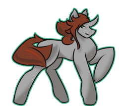 Size: 1400x1200 | Tagged: safe, artist:tartsarts, oc, oc only, oc:somnus, changeling, unicorn, changeling king, changeling oc, commission, simple background, solo, transparent background