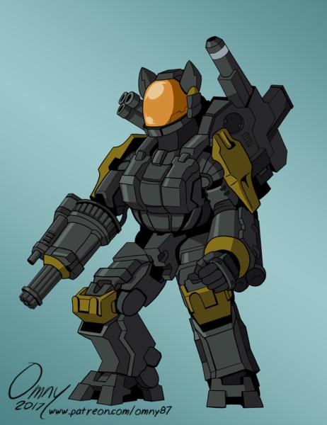1560387 Artist Omny87 Chaingun First Generation Halo Legends