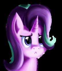 Size: 2275x2615 | Tagged: safe, artist:qbellas, starlight glimmer, pony, unicorn, uncommon bond, :<, female, mare, sad, simple background, solo, transparent background