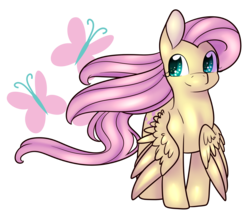 Size: 2200x1900 | Tagged: safe, artist:cloureed, fluttershy, pegasus, pony, cutie mark, simple background, solo, transparent background