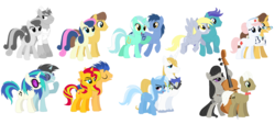 Size: 2396x1084 | Tagged: artist:somecoconut, blues, bluetrix, bon bon, bonjoe, carabon, caramel, derpy hooves, derpyskies, dj pon-3, doctor horse, doctor stable, donut joe, female, flashimmer, flash sentry, frederic horseshoepin, fredtavia, lyra heartstrings, lyraworthy, male, neon lights, noteworthy, nurse redheart, octavia melody, open skies, prince blueblood, rising star, safe, shipping, stableheart, straight, sunset shimmer, sweetie drops, trixie, vinylights, vinyl scratch