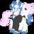 Size: 1675x1675 | Tagged: safe, artist:aerthmanolo, fancypants, fleur-de-lis, pony, unicorn, clothes, couple, facial hair, fancyfleur, female, leaning, male, mare, monocle, moustache, shipping, simple background, skunk stripe, stallion, straight, suit, transparent background