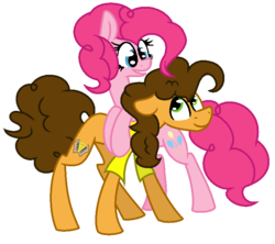 Size: 740x656 | Tagged: artist:tsintseh, cheesepie, cheese sandwich, female, male, pinkie pie, pony, safe, shipping, straight