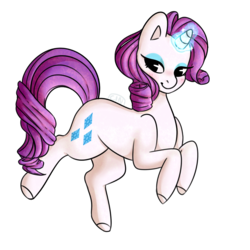 Size: 1000x1000 | Tagged: artist:applepieswcinnamon, magic, pony, rarity, safe, simple background, solo, transparent background