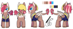 Size: 5250x2082 | Tagged: safe, artist:cloureed, oc, oc only, oc:strawberry breeze, pegasus, pony, clothes, reference sheet, simple background, transparent background