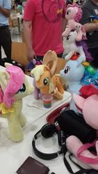 Size: 2322x4128   Tagged: safe, photographer:horsesplease, applejack, fluttershy, pinkie pie, rainbow dash, rarity, twilight sparkle, human, irl, malaysia, mane six, photo, stack, stack of pony, tower of pony