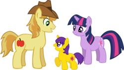 Size: 1024x577 | Tagged: artist:ludiculouspegasus, braeburn, family, female, male, oc, parent:braeburn, parent:twilight sparkle, safe, shipping, straight, twiburn, twilight sparkle