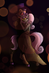Size: 1200x1800 | Tagged: artist:percy-mcmurphy, clothes, dancing, dress, earth pony, eyes closed, eyeshadow, female, makeup, male, mare, older, safe, stallion, straight, suit, sweetie belle, sweetietaps, tender taps, unicorn