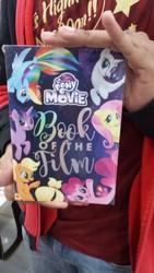 Size: 2322x4128 | Tagged: safe, photographer:horsesplease, applejack, fluttershy, pinkie pie, rainbow dash, rarity, twilight sparkle, alicorn, seapony (g4), my little pony: the movie, book, irl, malaysia, mane six, merchandise, my little pony the movie: book of the film, novelization, photo, that pony sure does love being a seapony, twilight sparkle (alicorn)