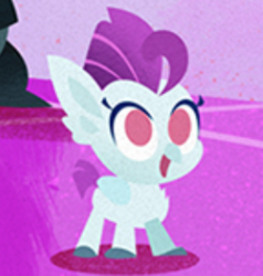 Size: 276x290 | Tagged: safe, classical hippogriff, hippogriff, pony, my little pony: the movie, credits, foal, pointy ponies, solo