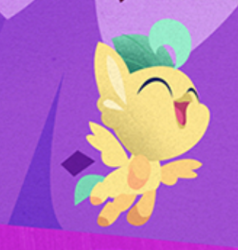 Size: 314x330 | Tagged: safe, screencap, classical hippogriff, hippogriff, my little pony: the movie, baby, cropped, smiling, solo